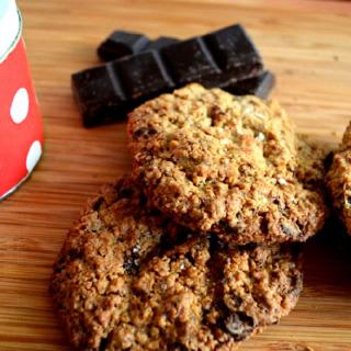 Cookies βρώμης με σοκολάτα