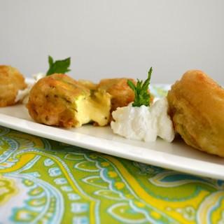 Κολοκυθοανθοί γεμιστοί με τυριά