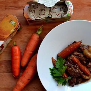 Stout beef stew (μοσχαράκι βρασμένο με μπύρα)