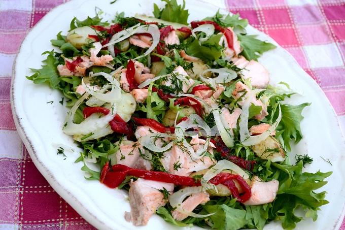 roasted salmon salad2