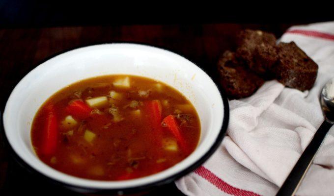 Σούπα με μοσχαρίσια ουρά